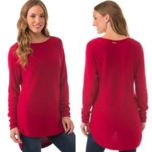 Michael Kors High Low Hem Side Zip Sweater